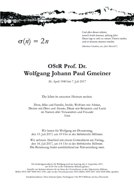 Parte Dr. Wolfgang Gmeiner